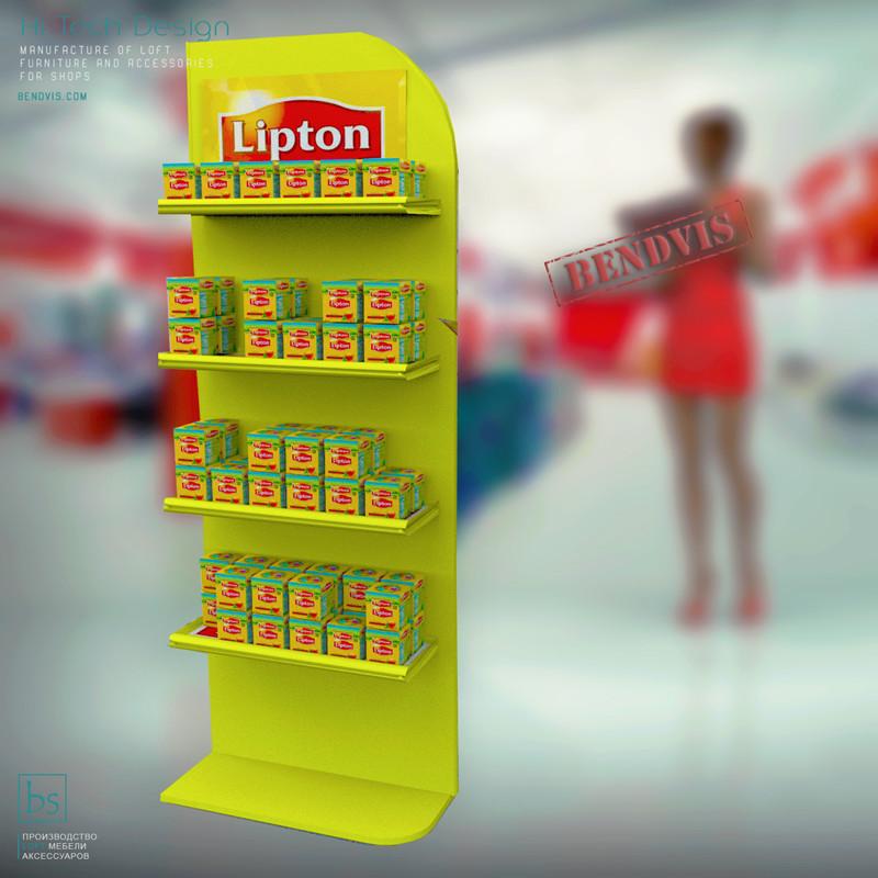 Стойка 🛒 торговая для чая Липтон