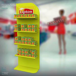 Стійка 🛒 торгова для чаю Ліптон