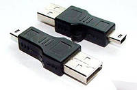 Адаптер USB (папа) - miniUSB (папа)