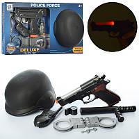 Набор полицейского каска, оружие (свет, звук) и другими аксессуарами HSY-020-21