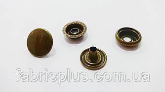 Кнопка для одежды каппа 15 мм №61 темный бронзовый
