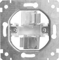 Механизм e.mz.16172.rj.12.45 розетки 2+1 телефон+компьютер под Jack RJ12, RJ45