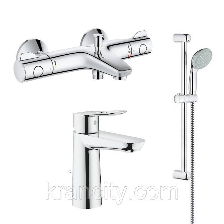 Набор для ванны с термостатом (23762000+34567000+27598000) Grotherm+Bauloop