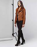 Braggart Youth   Осенне-весенняя женская куртка 25582 коричневая, фото 2