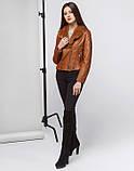 Braggart Youth   Осенне-весенняя женская куртка 25582 коричневая, фото 3