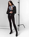 Braggart Youth | Куртка женская весенне-осенняя 25692 черно-серая, фото 2