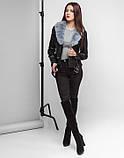 Braggart Youth | Куртка женская весенне-осенняя 25692 черно-серая, фото 3