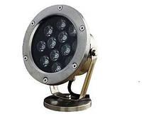 Подводный светодиодный светильник 9W зеленый IP68 Ecolend, фото 1