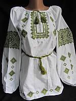 "Блуза ""Зелений гай"" с пояском (дом.полотно), 54 р-р 550\450 (цена за 1 шт.+100 грн)"