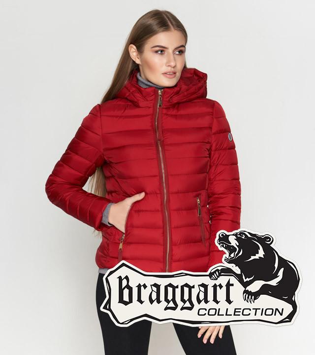 Braggart Youth | Осенне-весенняя женская куртка 25115 бордовая