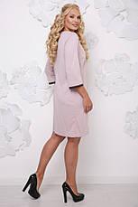 Женское батальное платье со вставкой, в расцветках, р.50-62, фото 2