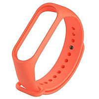 Ремешок Colored Strap для Xiaomi Mi Band 3 / 4 Оранжевый