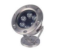 Подводный светодиодный светильник 6W желтый IP68 Ecolend , фото 1