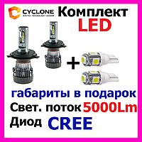 Светодиодные лед лампы автомобильные супер лед LED 9007,H4,H13, H/L 5000K 5000Lm CR type 19