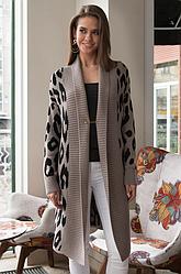 Пальто с леопардовым принтом«Лео»