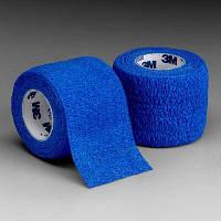 Фиксирующий самоскрепляющийся эластичный бинт 3M Coban 7,5 см х 4,5 м, синий