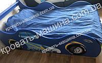 Кровать машина Полиция Украина синяя