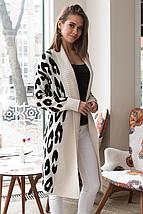 Вязаное пальто с принтом «Лео», фото 3