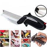 Кухонный нож-ножницы с разделочной доской для шинковки Clever Cutter, фото 9