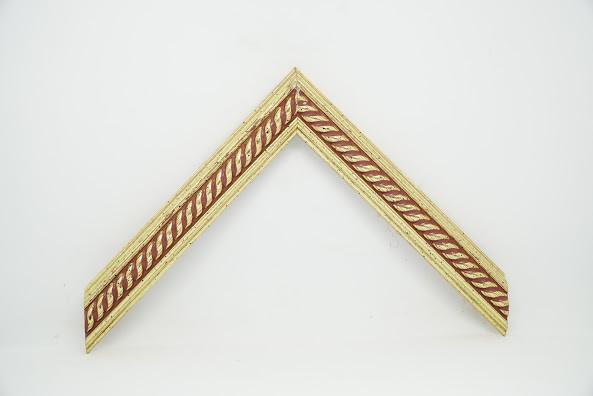 Багет дерев'яний золота косичка