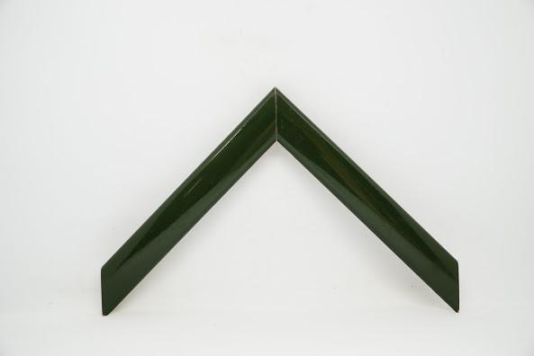 Багет дерев'яний темно-зелений лакований