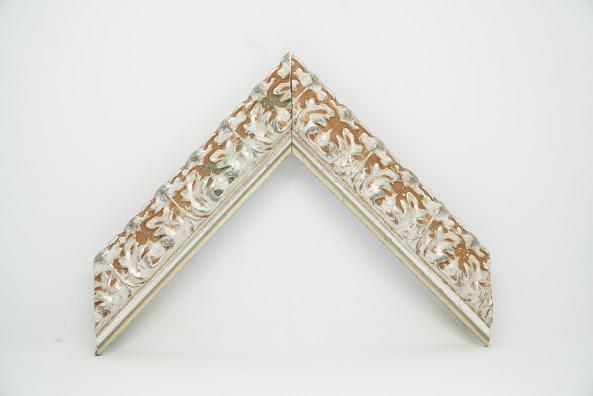 Багет дерев'яний срібні візерунки