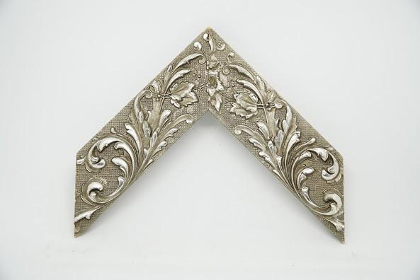 Багет дерев'яний срібло з узором