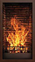 Обогреватель-картина инфракрасный настенный ТРИО 400W 100 х 57 см, камин 3D