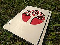 """Деревянный блокнот """"Древо"""" ручной работы формат А5"""