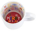 Кружка белая с рисунком внутри с Рождеством  с Вашим дизайном, фото 2