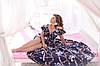 Женское воздушное нарядное летнее платье на бретелях с пышной юбкой на запах, батал большой размер, фото 6
