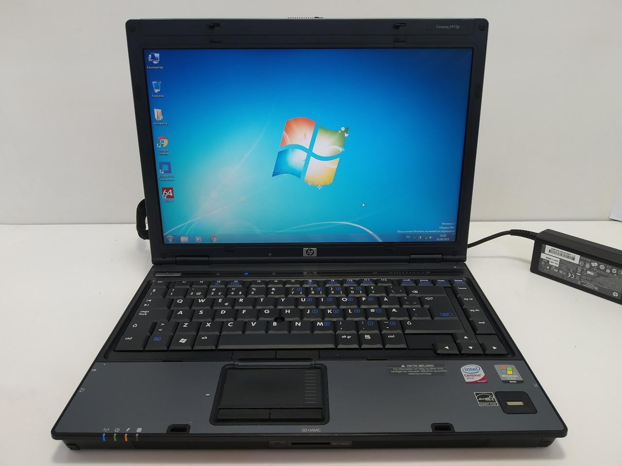 "14"" HP compaq 6910p Intel T7300 2.0, 2 ГБ, 160 ГБ hdd, батарея до 1 часа, Полностью настроен!"