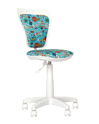 Кресло детское Ministyle GTS white крестовина PL55, ткань Сomics-01 (Новый Стиль ТМ), фото 2