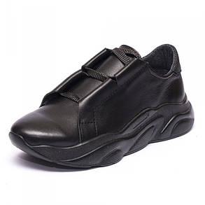 Кроссовки кожаные черные 931-31, фото 2