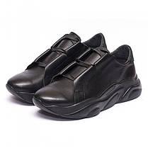 Кроссовки кожаные черные 931-31, фото 3