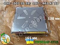 Вентиляционная дверца для дымохода с отверстиями из нержавейки 16,5х17 см