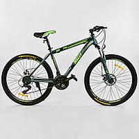 Велосипед Спортивный Corso K-Rally 26 дюймов 0010 - 2315 Blue-Green Собран на 75%
