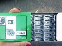 Точилка металлическая двойная (12шт)