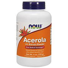 """Порошок ацеролы (барбадосской вишни) NOW Foods """"Acerola 4:1 Extract Powder"""" экстракт в порошке (170 г)"""