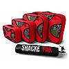 Комплект дорожных органайзеров для путешествий Shacke Pak 5 шт Красный (OT114)