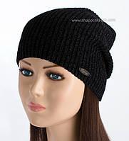 Черная удлиненная шапка Раф