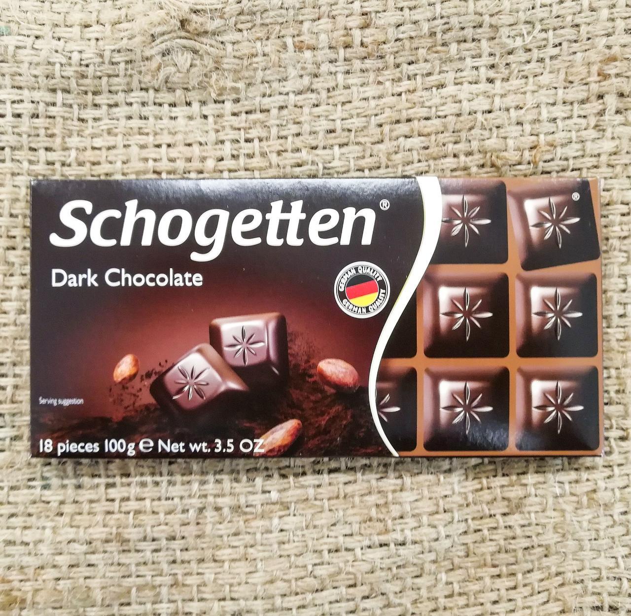 Шоколад Schogetten Dark Chocolate 100 gramm