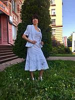 Костюм летний белый с юбкой и топом, фото 1