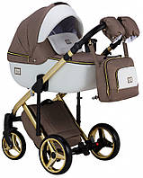 Дитяча універсальна коляска 2 в 1 Adamex Luciano Polar Gold Y801
