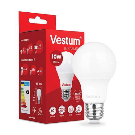 Светодиодная лампа Vestum A60 10W 4100K 220V E27 1-VS-1105, фото 2