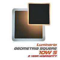 Настенный светодиодный светильник, бра LUMINARIA GEOMETRIA SQUARE 10W S-185 -WHITE 220-IP20 (квадрат)