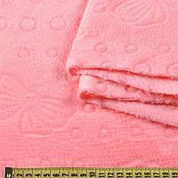 Велсофт двухсторонний с тиснением бабочки розовый, ш.185
