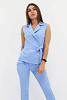 S, M, L, XL / Стильний брючний костюм Archer, блакитний