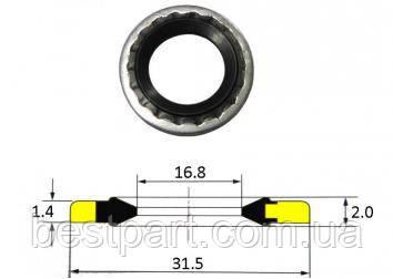 Кільця метало-гумові 17.27x31.57x1.4