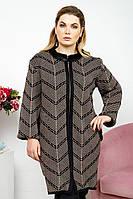 Кардиган-пальто мех, фото 1